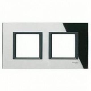 Рамка 2 места Schneider Unica Class черное стекло