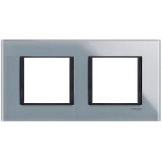 Рамка 2 места Schneider Unica Class матовое стекло