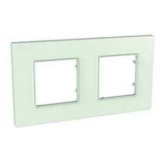 Рамка 2 места Schneider Unica Quadro матовое стекло