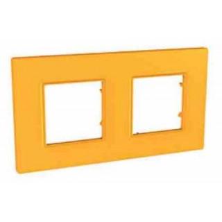 Рамка 2 места Schneider Unica Quadro оранж