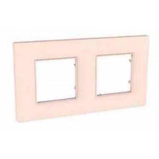 Рамка 2 места Schneider Unica Quadro розовый жемчуг