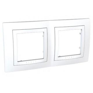 Рамка 2 места Schneider Unica белая