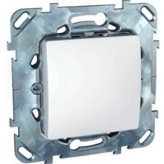 Выключатель одноклавишный крестовой Schneider Unica белый