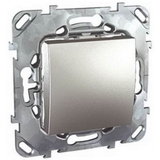 Выключатель одноклавишный крестовой Schneider Unica алюминий