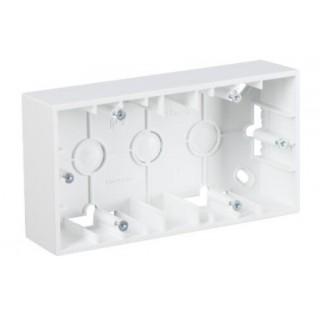 Коробка для наружного монтажа 2 местная Simon 1590752-030 белый