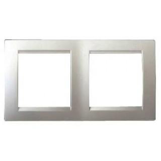 Рамка 2 места Simon 1500620-033 алюминий
