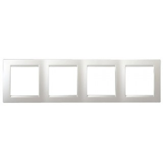 Рамка 4 места Simon 1500640-030 белый