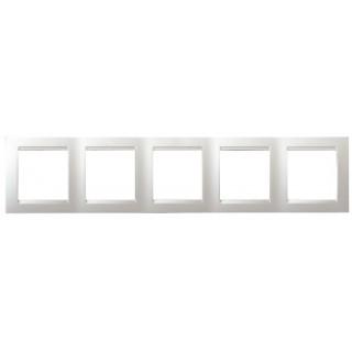 Рамка 5 мест Simon 1500650-030 белый