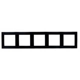 Рамка 5 мест Simon 1500650-032 черный