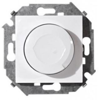 Регулятор напряжения поворотно-нажимной Simon 1591311-030, 500W белый