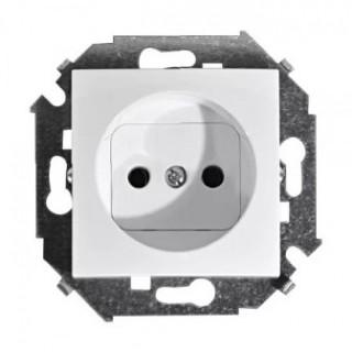 Розетка 2Р (без заземления) Simon 1591431-030 белый