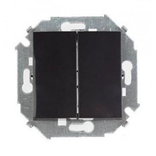 Выключатель двухклавишный проходной Simon 1591397-032 черный