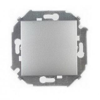 Выключатель одноклавишный Simon 1591101-033 алюминий