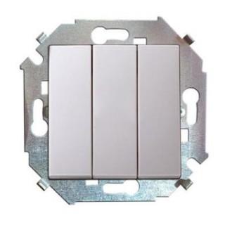 Выключатель трехклавишный Simon 1591391-033 алюминий