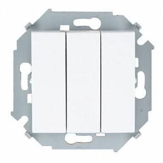 Выключатель трехклавишный Simon 1591391-030 белый