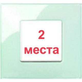 Рамка 2 места Simon 27772-32 салатовый