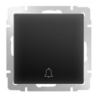 Кнопка звонка WL08-04-01 черный матовый