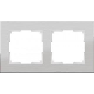 Рамка на 2 поста WL11-Frame-02 алюминий