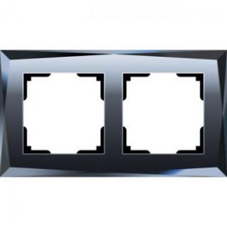 Рамка на 2 поста WL08-Frame-02 черный
