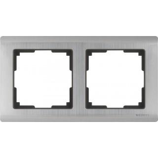 Рамка на 2 поста WL02-Frame-02 глянцевый никель