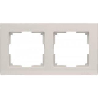 Рамка на 2 поста WL04-Frame-02-ivory слоновая кость
