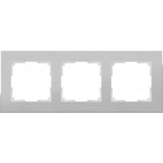 Рамка на 3 поста WL11-Frame-03 алюминий