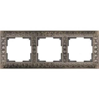 Рамка на 3 поста WL07-Frame-03 бронза