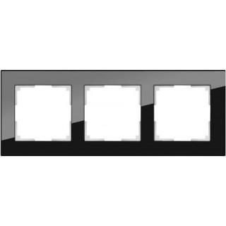 Рамка на 3 поста WL01-Frame-03 черный