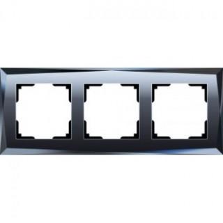 Рамка на 3 поста WL08-Frame-03 черный