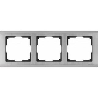 Рамка на 3 поста WL02-Frame-03 глянцевый никель