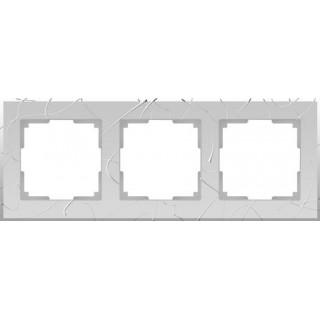 Рамка на 3 поста WL06-Frame-03 серебряный