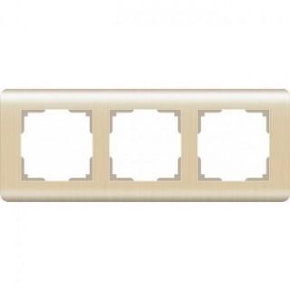 Рамка на 3 поста WL12-Frame-03 шампань