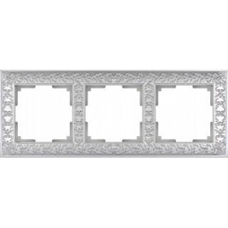 Рамка на 3 поста WL07-Frame-03 жемчужный