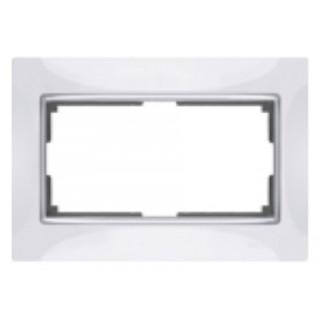 Рамка для двойной розетки WL03-Frame-01-DBL белый