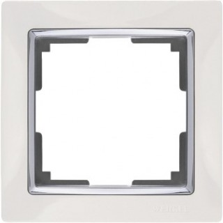 Рамка на 1 пост WL03-Frame-01-white белый