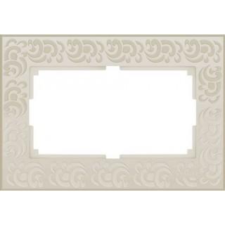 Рамка для двойной розетки WL05-Frame-01-DBL слоновая кость