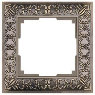 Рамка на 1 пост WL07-Frame-01 бронза