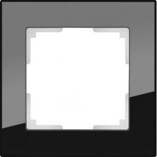 Рамка на 1 пост стекло WL01-Frame-01 черный