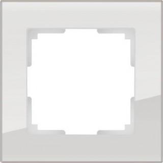 Рамка на 1 пост, стекло WL01-Frame-01 дымчатый
