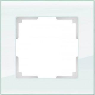 Рамка на 1 пост WL01-Frame-01 натуральное стекло