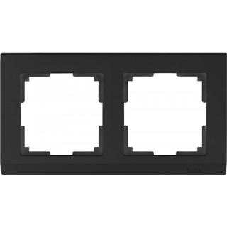 Рамка на 2 поста WL04-Frame-02-black черный