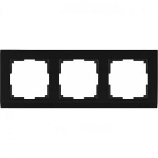 Рамка на 3 поста WL04-Frame-03 черный