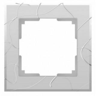 Рамка на 1 пост WL06-Frame-01 серебряный