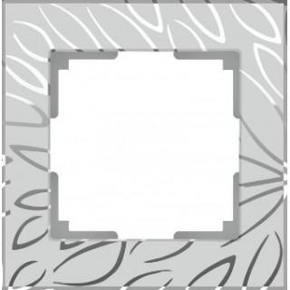 Рамка на 1 пост WL09-Frame-01 серебряный