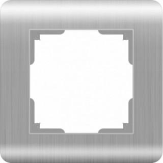 Рамка на 1 пост WL12-Frame-01 серебряный