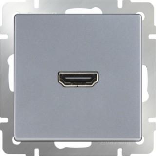 Розетка HDMI WL06-60-11 серебряный