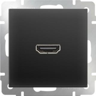 Розетка HDMI WL08-60-11 черный матовый