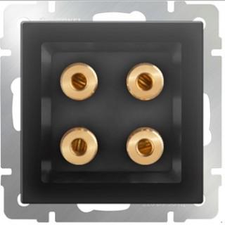Акустическая розетка WL07-AUDIOx4 серо-коричневый