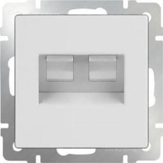 Розетка двойная Ethernet RJ-45 Werkel WL01-RJ45+RJ45 белый
