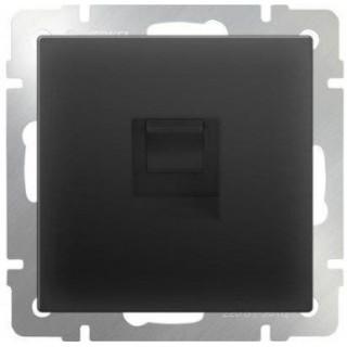 Розетка Ethernet RJ-45 Werkel WL08-RJ-45 черный матовый